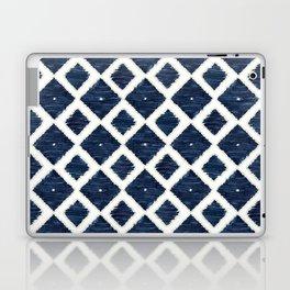 Indigo Tan & White Ikat Diamond shapes Laptop & iPad Skin