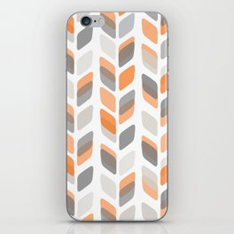 Modern Rectangle Print with Retro Abstract Leaf Pattern iPhone Skin