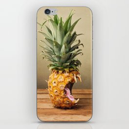 Pineapple is hungry iPhone Skin