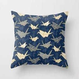 Sadako's Good Luck Cranes Throw Pillow
