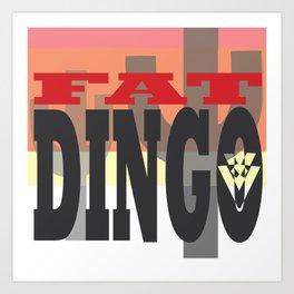 Fat Dingo Art Print