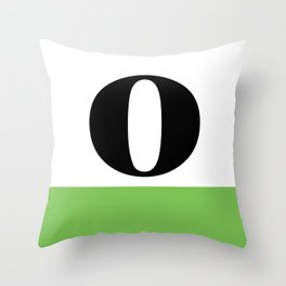Monogram Letter O (color block) Throw Pillow