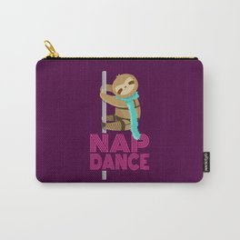 Funny Nap Dance Neon Sign Cute Sloth Pole Dancer Carry-All Pouch