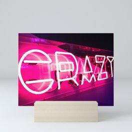 """CRAZY"" Neon Sign Mini Art Print"