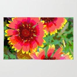 Gerber daisies - pop art nature photography print Rug