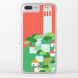 San Francisco, California - Skyline Illustration by Loose Petals Clear iPhone Case