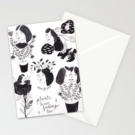 Plants Have Feelings Too Stationery Cards