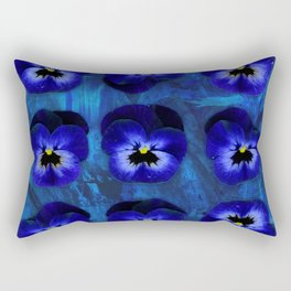 Deep Blue Velvet Rectangular Pillow