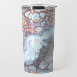 River Bed Pebbles - Abstract Acrylic Art by Fluid Nature Travel Mug