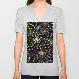 Abstract Mixed Media Series Sea Urchins 07 Unisex V-Neck