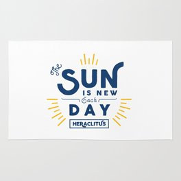 Heraclitus - The sun is new each day Rug