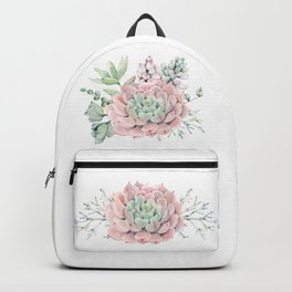 Pink Succulents by Nature Magick Backpack
