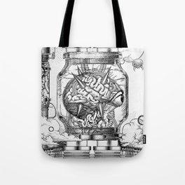 Mother Brain Super Metroid Engraving Scene Tote Bag