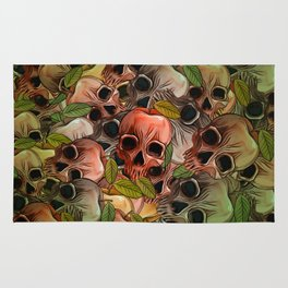 Apple Skull Rug
