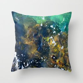 10,000 emerald pools Throw Pillow