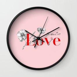Love Qoutes Wall Clock