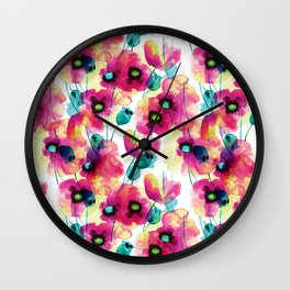 happy floral Wall Clock