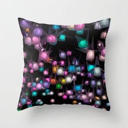 Crystal night Throw Pillow
