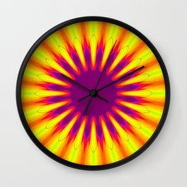 Sunrise Color Burst Flower Wall Clock