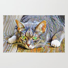The TABBY II from our FUNK YOUR FELINE line Rug