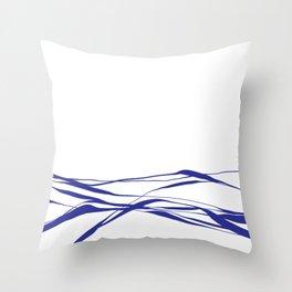 A Bottomless Sea No. 2 Blue Throw Pillow