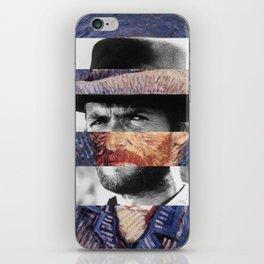 Van Gogh's Self Portrait and Clint Eastwood iPhone Skin