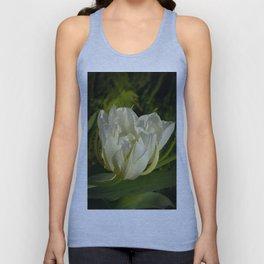 Double White Tulip by Teresa Thompson Unisex Tank Top