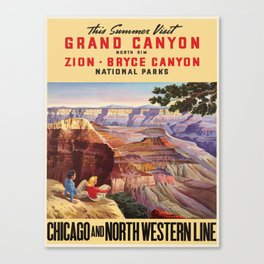 Vintage poster - Grand Canyon Canvas Print