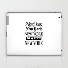 I Heart New York City Black and White New York Poster I Love NYC Design black-white home wall decor Laptop & iPad Skin