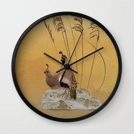 California Valley Quail Wall Clock
