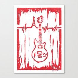 Jesse Hughes (Eagles of Death Metal) Maton MS5000 Guitar Linocut Print Canvas Print