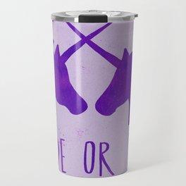 Ride or Die x Unicorns x Purple Travel Mug
