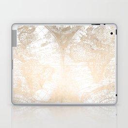 Antique White Gold World Map Laptop & iPad Skin