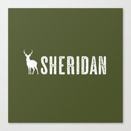 Deer: Sheridan, Wyoming Canvas Print