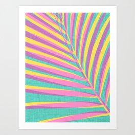 Bright Tropical Palm Art Print