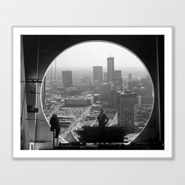 Uptown Girl-Downtown World Canvas Print