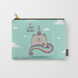 I'm happy unicorn cat Carry-All Pouch