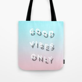 Good Vibes Only - Shadow Gradient - Vaporwave Tote Bag