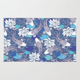 Blue Koi Ripples Rug