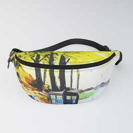 Tardis Art Speaking With Dalek Fanny Pack