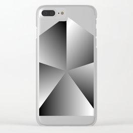 Metal Pentagon Clear iPhone Case