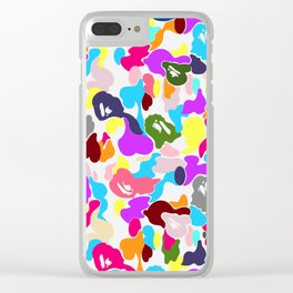 B APE colorful pattern Clear iPhone Case