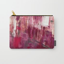 Sunset in the Valley [2]: a colorful abstract piece in reds, pink, gold, gray, and white Carry-All Pouch