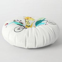 Animals biking. bike art, bike decor, bikes. Floor Pillow