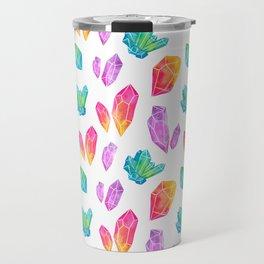 Watercolor Crystals Travel Mug