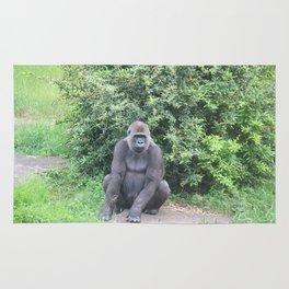 Gorilla Sitting Down Rug