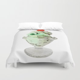 Pistachio Ice Cream Duvet Cover