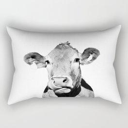 Cow photo - black and white Rectangular Pillow