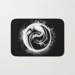 Yin and Yang Dragons Bath Mat