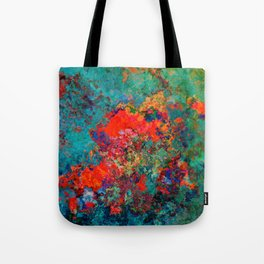 red poppies fantasy Tote Bag